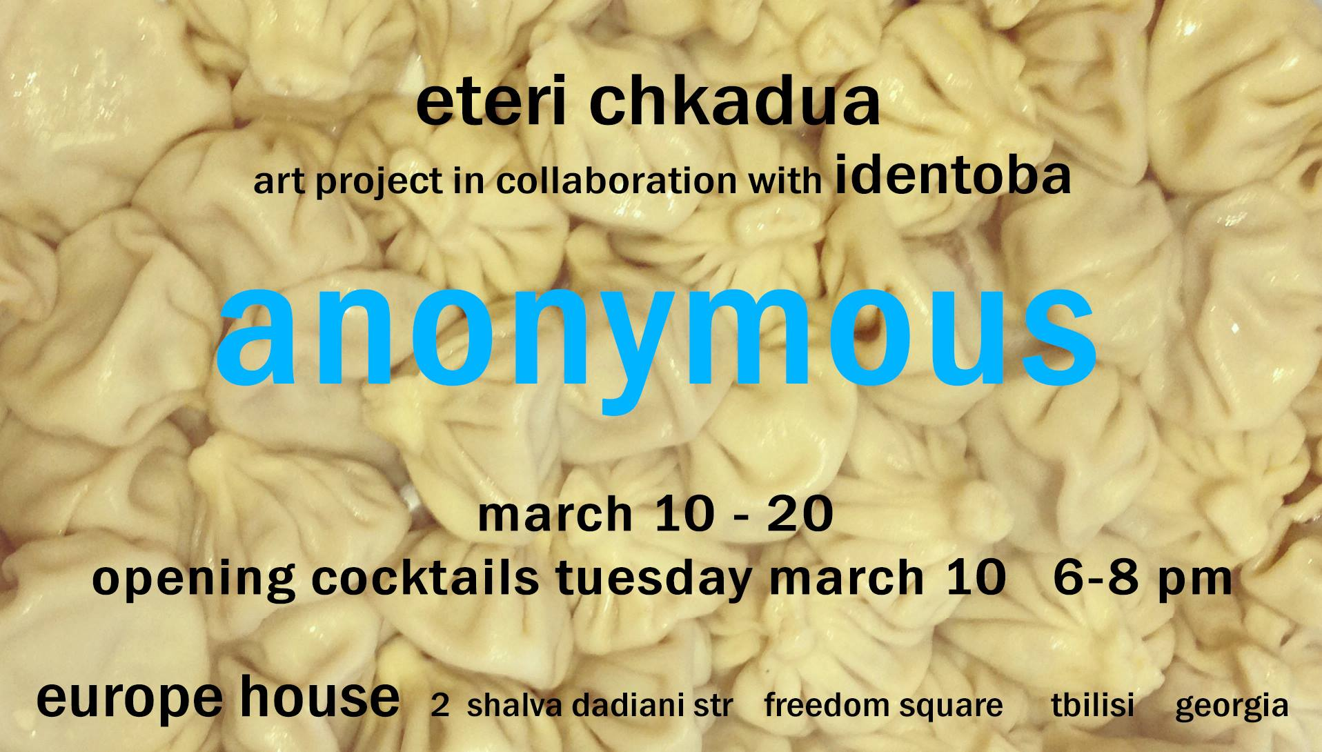 Anonymous opens on March 10, an exhibition by Eteri Chkadua & Identoba