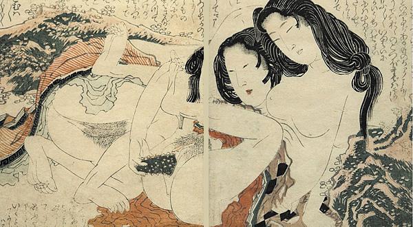 Katsushika Hokusai - Shunga - Awabi Divers - Lesbian - 1810 - p797