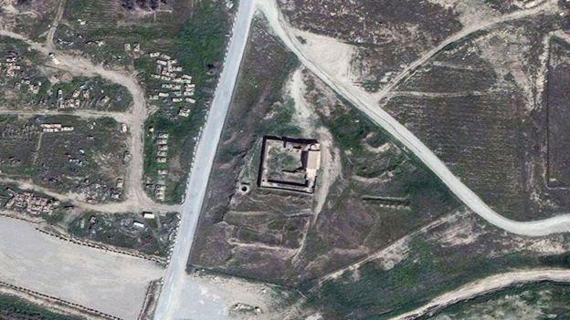 2011 წლის მარტში გადაღებული წმინდა ელაიას მონასტრის ფოტო