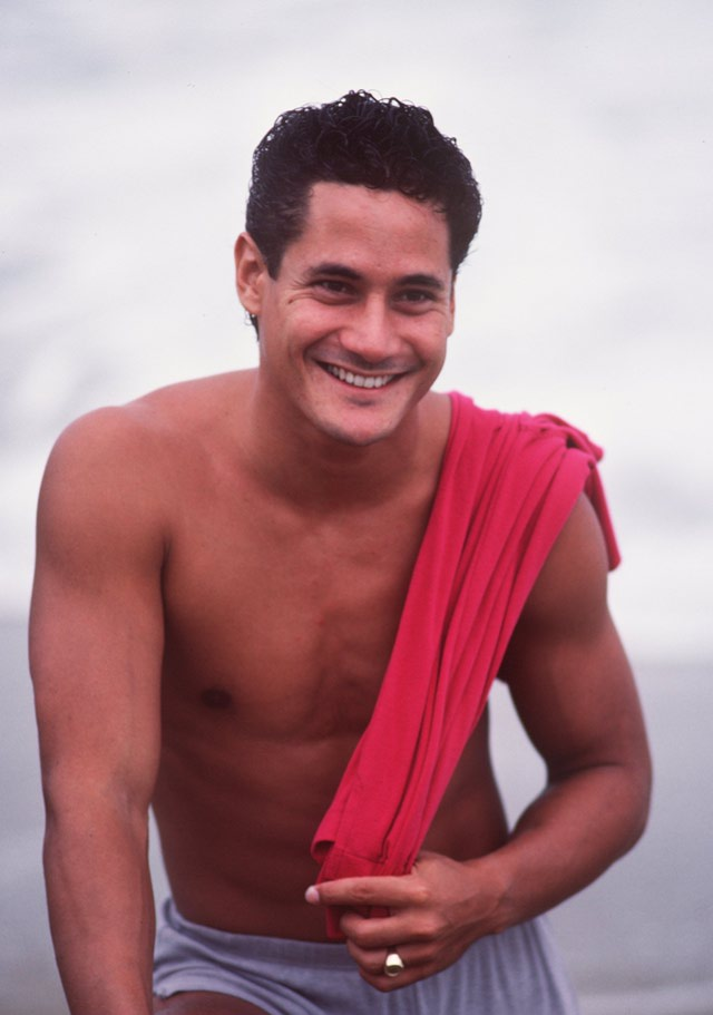 SEP 1984: GREG LOUGANIS OF THE USA DURING A PORTRAIT SHOOT. Mandatory Credit: Tony Duffy/ALLSPORT